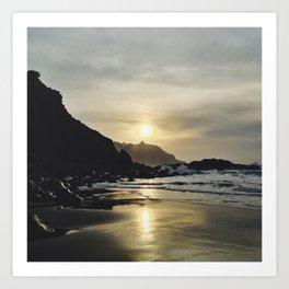 Rough sunset Art Print