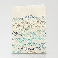 mountains Stationery Cards featuring Mountains  by rskinner1122
