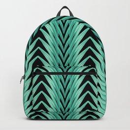 amaryllis stripe on black Backpack