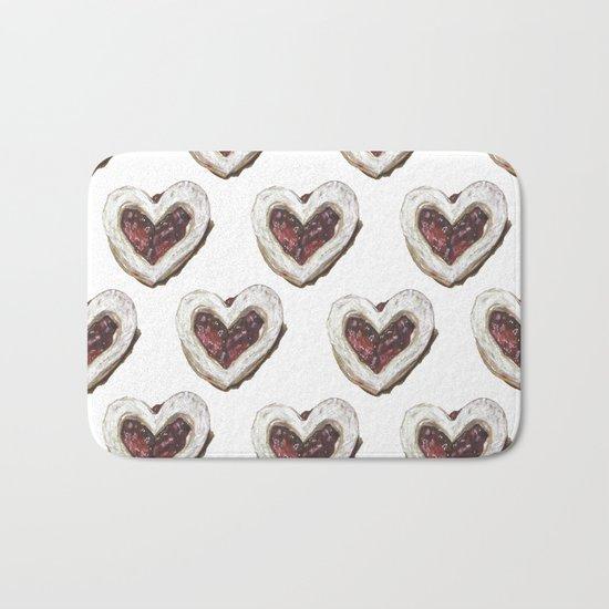 Valentine Heart Cookie Pattern Bath Mat