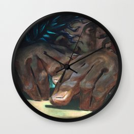 Classical Masterpiece 'The Drummer' by Charlot Jean Wall Clock