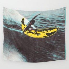 Banana surfer Wall Tapestry