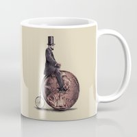 american Mugs featuring Penny Farthing  by Eric Fan