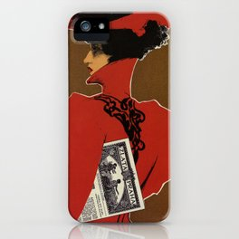 Golden Prague art nouveau iPhone Case