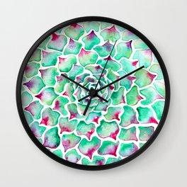 Echeveria Succulent Wall Clock