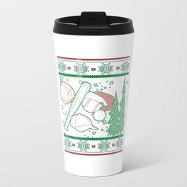 Baseball Christmas Travel Mug