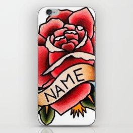 Name Rose iPhone Skin