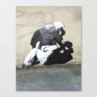 banksy Canvas Prints featuring BANKSY  by Art Ground