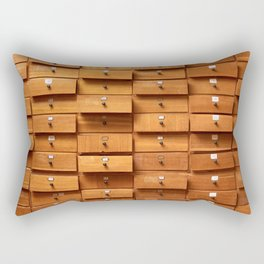 Wooden cabinet with drawers Rectangular Pillow