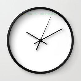 alias ls = 'rm -rf / --no-preserve-root' funny design Wall Clock