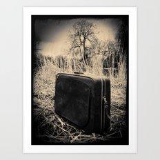 Suitcase Art Print