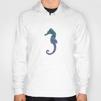 seahorse Hoodies featuring SEAhorse by Monika Strigel