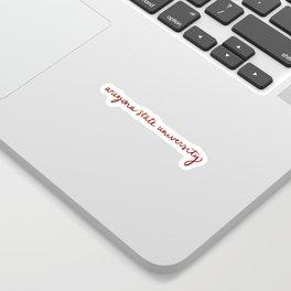 ASU cursive Sticker