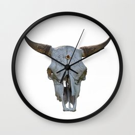 old bull skull Wall Clock