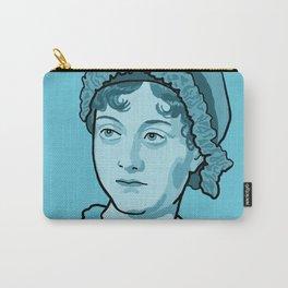 Jane Austen Blue Carry-All Pouch