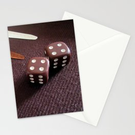 Backgammon dice double Stationery Cards
