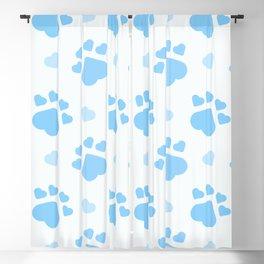 Blue dog paws Blackout Curtain