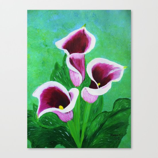 Kala Lilies  Canvas Print