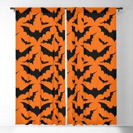 Orange Bats Blackout Curtain