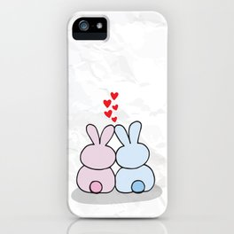 Bunny Lovers iPhone Case
