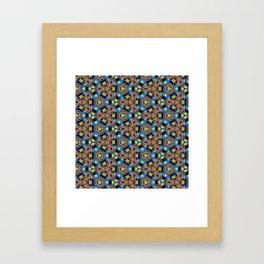 Bright Beadwork Inspired Print Framed Art Print