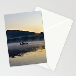 Fishing in the Morning Mist Stationery Cards