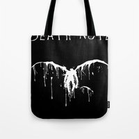 death note Tote Bags featuring Death Note by bosphorus
