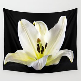 Large White Lily-2 Wall Tapestry