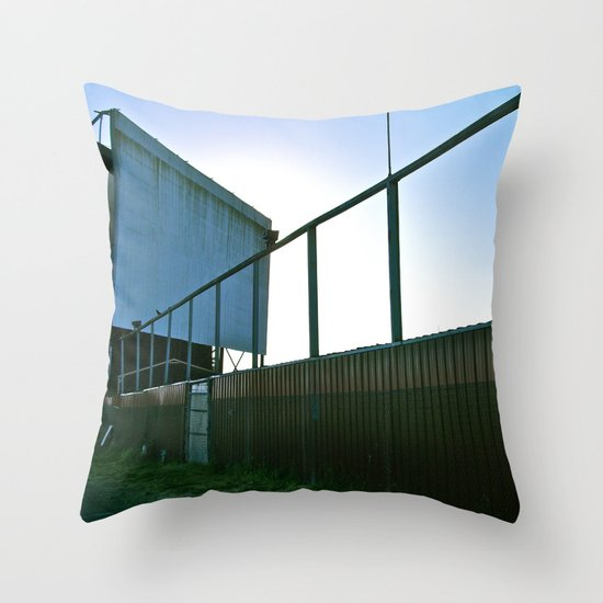 We once had a drive-in Throw Pillow