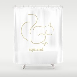 Squirell Shower Curtain