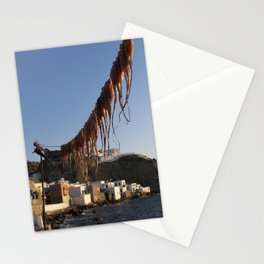 Octopus Drying In Nyssiros Stationery Cards