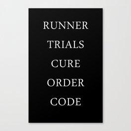Maze Runner Titles Canvas Print