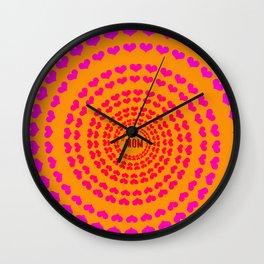 MOM HEARTED Wall Clock