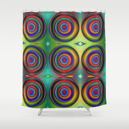 Multicolored Pattern Circles 1 Shower Curtain