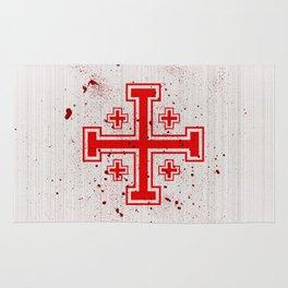 The Crusades Bloody Knight Templar Rug