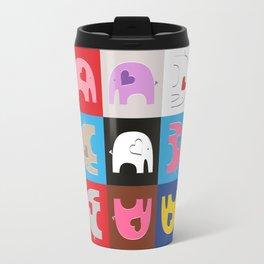 Elephant Love Furoshiki #2 Travel Mug