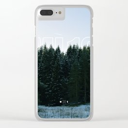 White Tipped Forest Clear iPhone Case