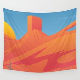 Desert Valley Landscape Scene Wall Tapestry