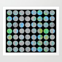 dots Art Prints featuring Dots  by LebensARTdesign