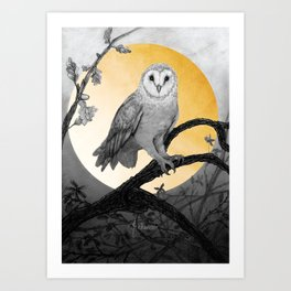 Golden Owl Art Print