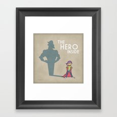 The Hero Inside Framed Art Print