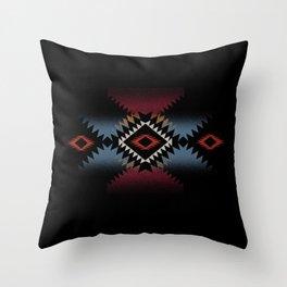 aztec in black number 5 Throw Pillow