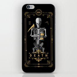 Death XIII Tarot Card iPhone Skin