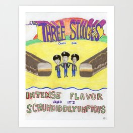 three stooges candy bar Art Print