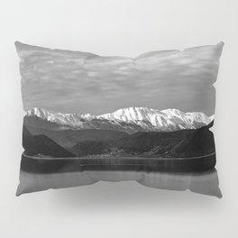 Winter Monochrome Lake Pillow Sham