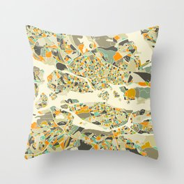 Stockholm MAP Throw Pillow