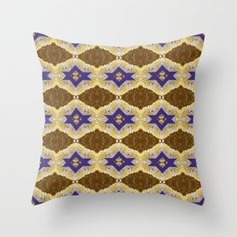 Blue and Brown by Melissa Brown Throw Pillow
