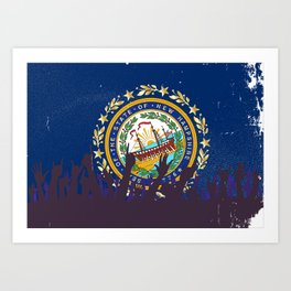 New Hampshire State Flag with Audience Art Print