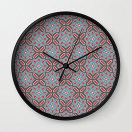 Volcanic Eruption Abstract Print Seamless Pattern Wall Clock