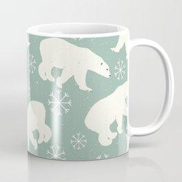 Polar Bears and Snowflakes Coffee Mug